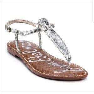 Sam Edelman Gigi Metallic Flat Sandals Size 9